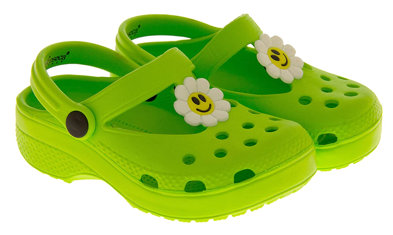 Girls Lightweight Summer Clog Mule Sandals Kids Holiday Shoe Size 7 8 9 10  11: Amazon.co.uk: Shoes & Bags