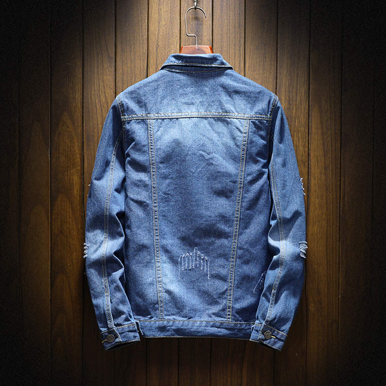 Men Jean Jacket Clothing Denim Jacket Fashion Jeans Jacket Thin Spring Outwear