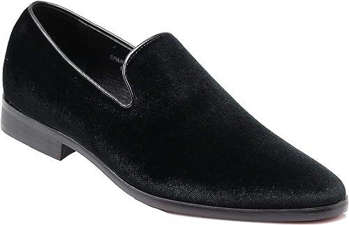 Vintage Plain Velvet Dress Loafers Slip