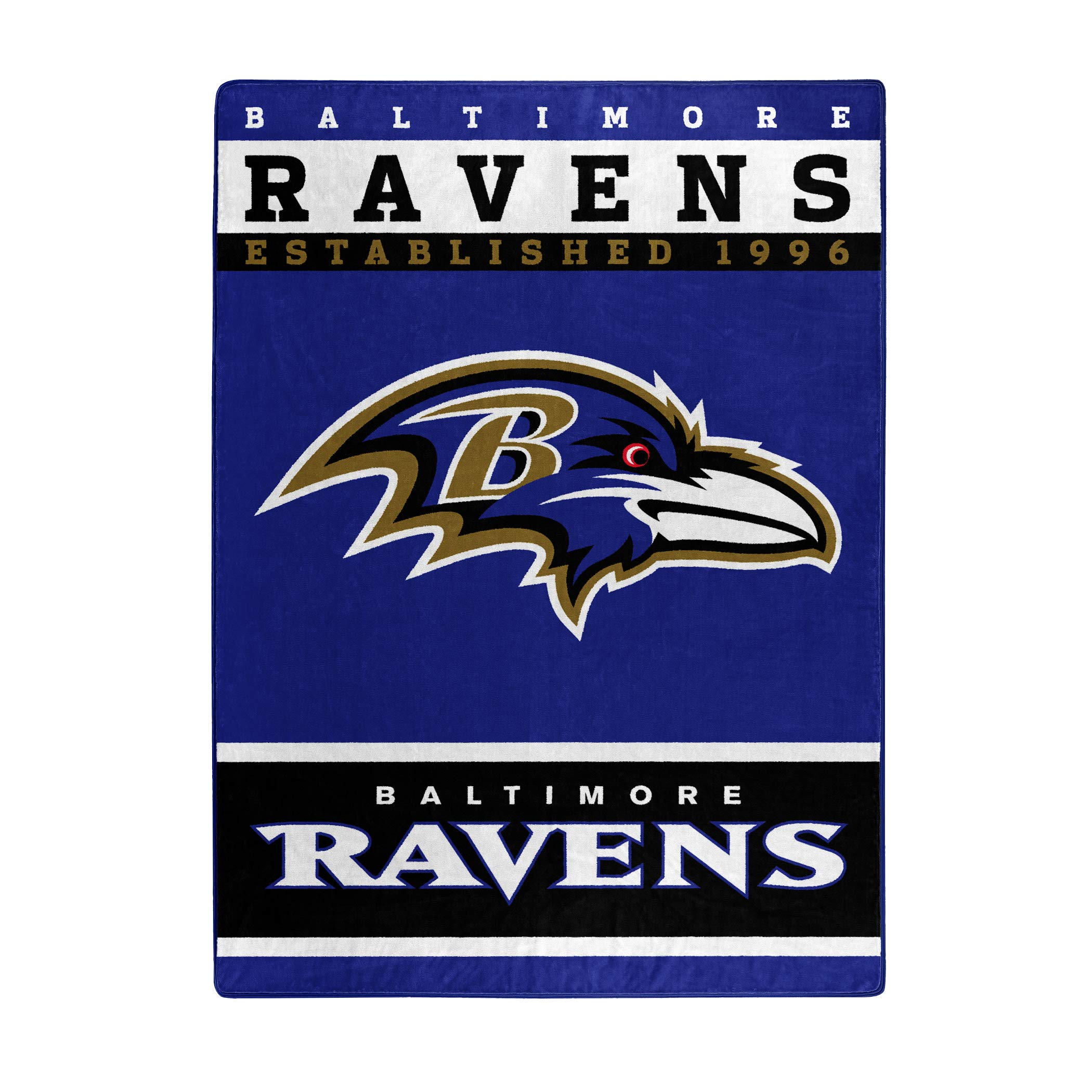 The Northwest Company Officially Licensed NFL Baltimore Ravens 12th Man Plush Raschel Throw Blanket, 60'' x 80''