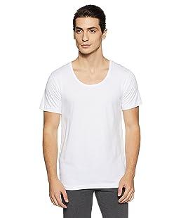 Van Heusen Men's Cotton Half Sleeve Vest (8907522404007_10072_Large_White)