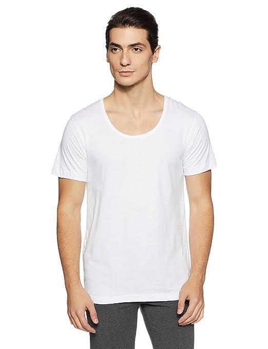 Van Heusen Men's Cotton Half Sleeve Vest Men's Underwear Vests at amazon