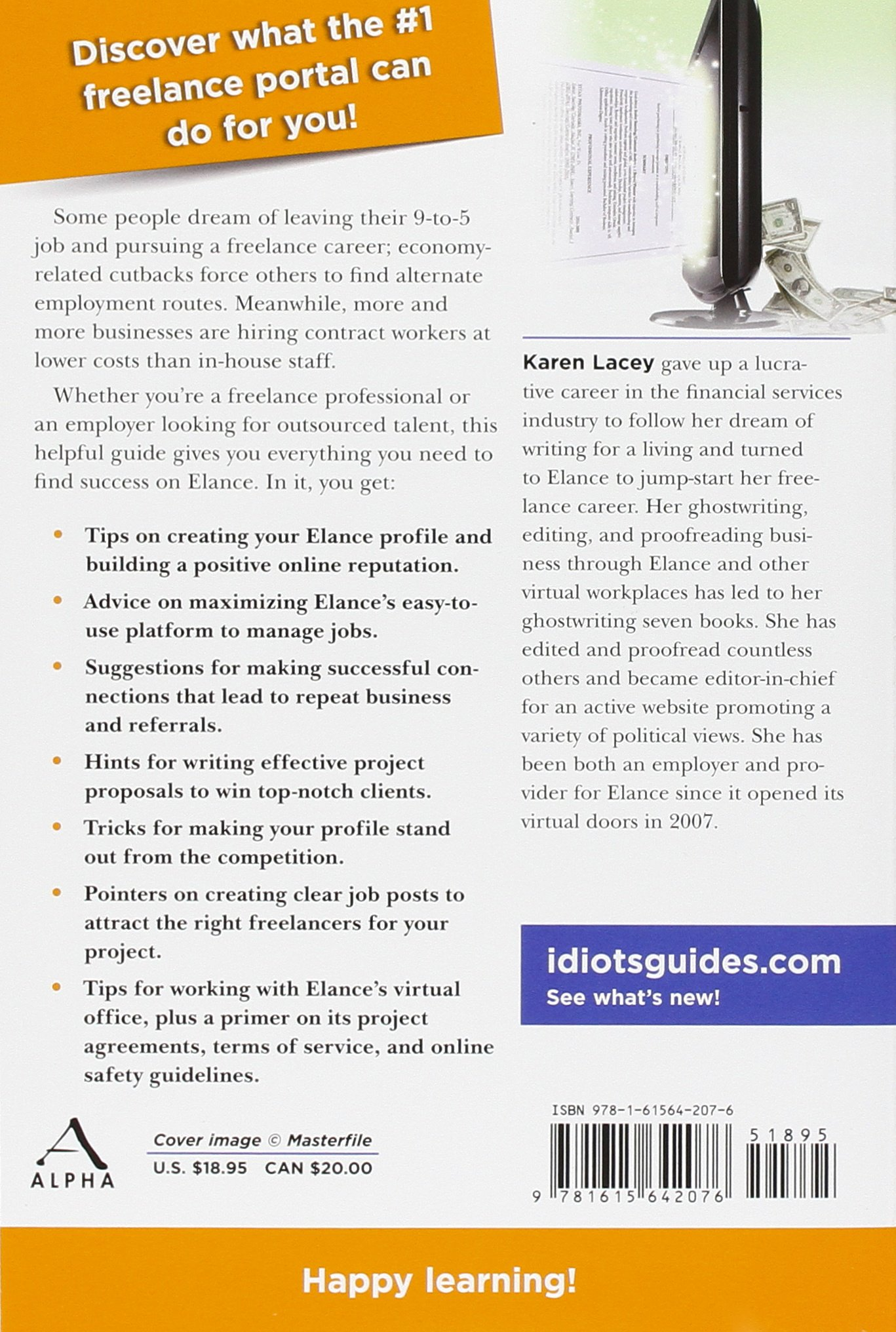 the complete idiot s guide to elance lacey karen