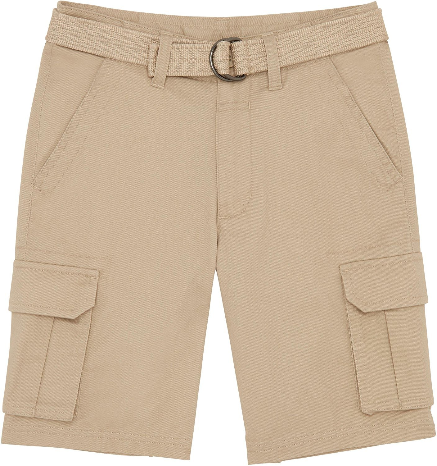French Toast School Uniform Boys Belted Cargo Shorts, Khaki, 7 by French Toast (Image #1)