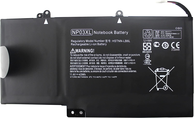 EBOYEE NP03XL Notebook Battery Compatible HP Pavilion Envy 15 X360 13 13-A010DX 13-A013CL 13-A113CL 13-A110DX 13-A113CL HP Envy 15-U010DX 15-U011DX 15-U050CA 15-U111DX 15-U110DX HSTNN-LB6L 761230-005