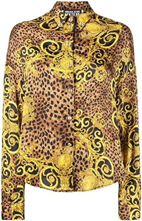 Versace Luxury Fashion Mujer B0HUA608S0598923 Oro Camisa | Otoño-Invierno 19: Amazon.es: Ropa y accesorios