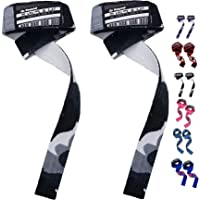 EMRAH Lifting Straps (Pair) - Weightlifting Hand Bar Wrist Support Hook Wraps, Wrist Supports Assist Grip Strength…