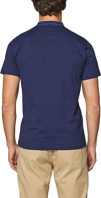 Esprit 019ee2k014 Polo, Azul (Navy 400), Medium para Hombre ...