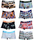 JINSHI Men's Underwear Bamboo Boxer Briefs Short Leg