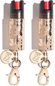 Pepper Spray Keychain for Women - Fashionable & Powerful, Our 10% OC, No Gel Sprays Long Range and is Specifically Designed for Women, Safe, Accessible, Easy to Use, No Accidents, Refillable