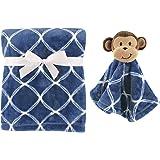 Hudson Baby Plush Blanket and Animal Security Blanket Set, Boy Monkey