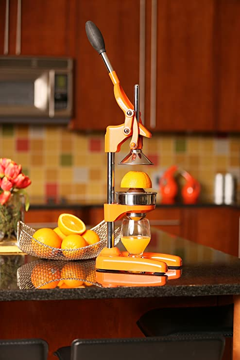 Amazon.com: Cilio Commercial Grade Citrus Press Juicer, Orange: Electric Citrus Juicers: Kitchen & Dining