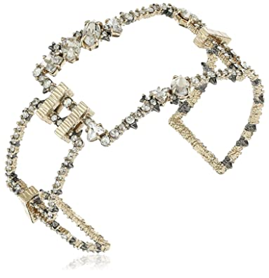 Alexis Bittar Crystal Encrusted Oversize Link Cuff Bracelet eGlf55