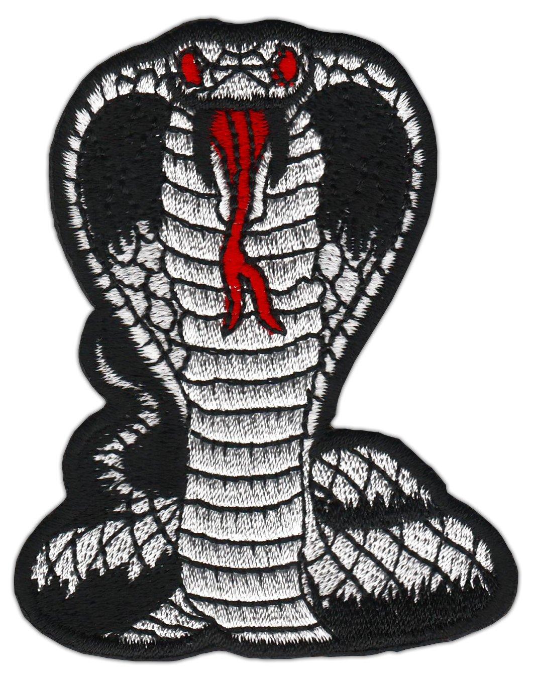Cobra Noir Petit serpent Branches image /Écusson