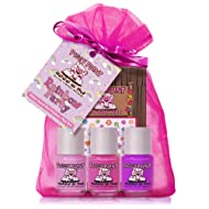 Piggy Paint - 100% Non-Toxic Girls Nail Polish, Safe, Chemical Free, Low Odor for Kids - 3 Polish Gift Set (Rainbow Party)
