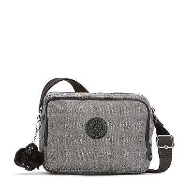 9c4097954a2 Kipling Women'S Silen Messenger Bag, Grey - Cotton Grey One Size ...