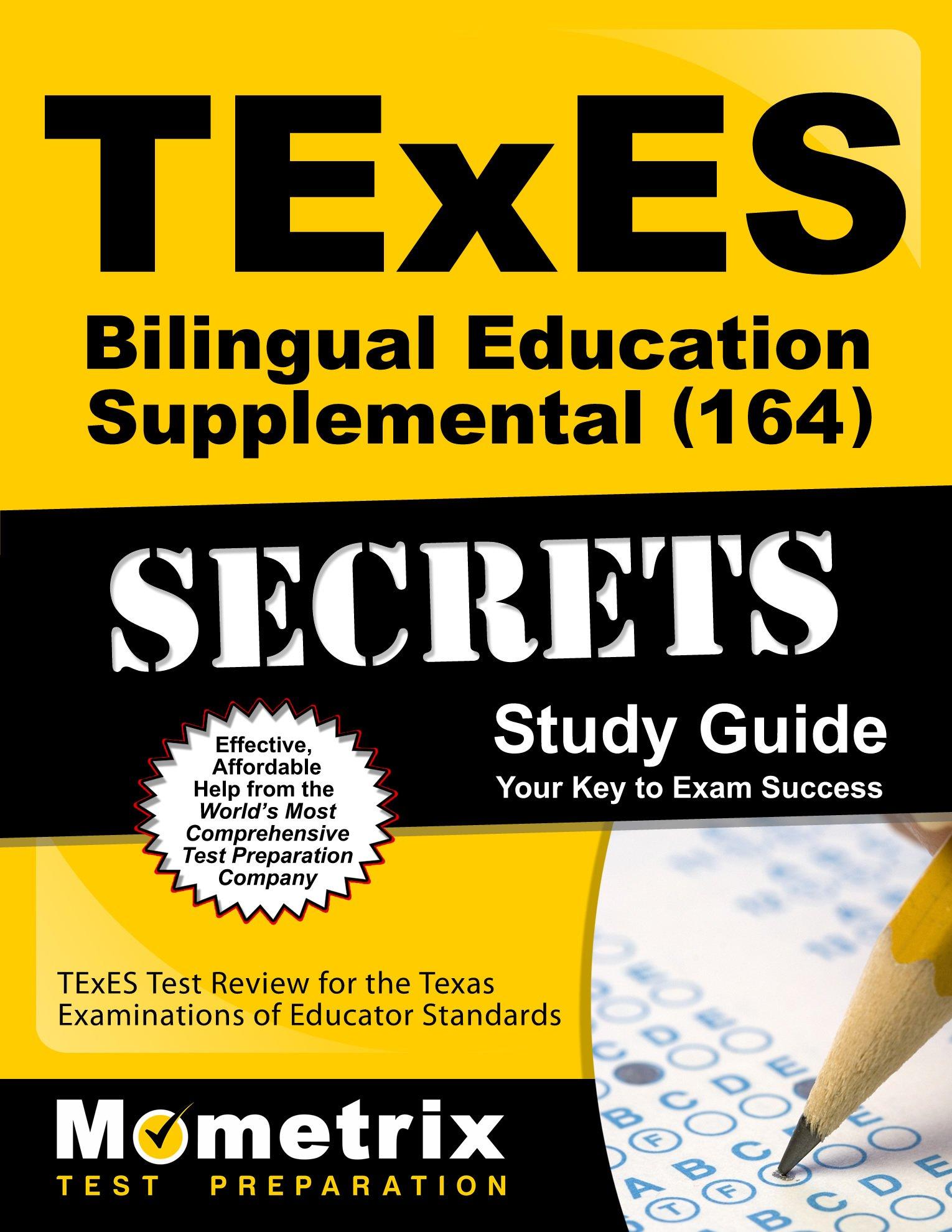 Buy Texes Bilingual Education Supplemental 164 Secrets Texes Test
