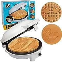 Emoji Waffler & Pancake Maker con 2 platos intercambiables para panqueques o gofres, sartén eléctrica de 8 pulgadas y…