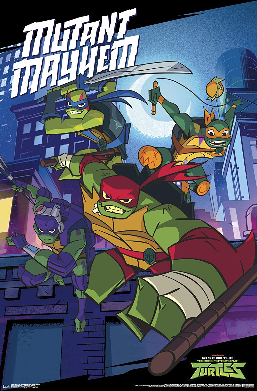 "Trends International Nickelodeon Rise of The Teenage Mutant Ninja Turtles - Mayhem Wall Poster, 22.375"" x 34"", Unframed Version"