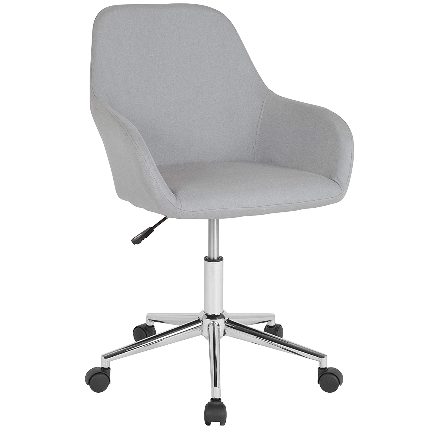 Flash Furniture Cortana Home and Office Mid-Back Chair in Light Gray Fabric