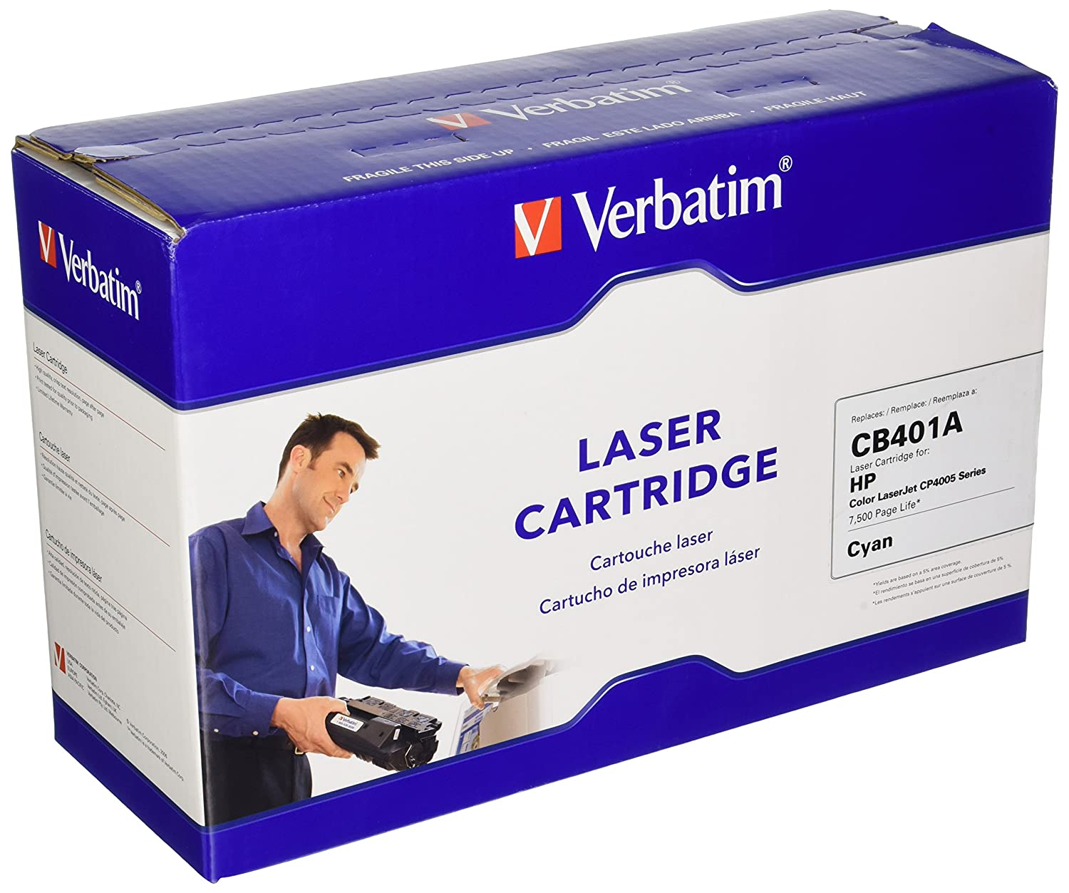 Verbatim Remanufactured Toner Cartridge Replacement for HP CB401A (Cyan)