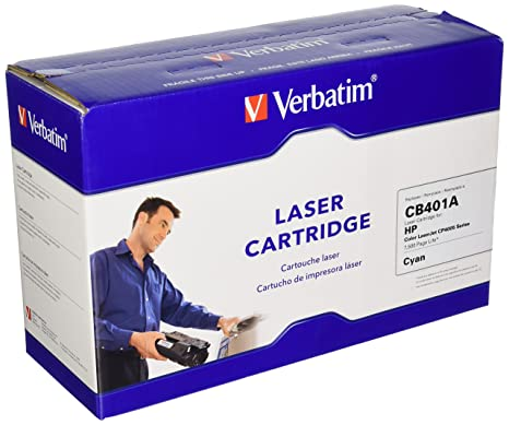 Verbatim Remanufactured Toner Cartridge Replacement for HP CB401A (Cyan)