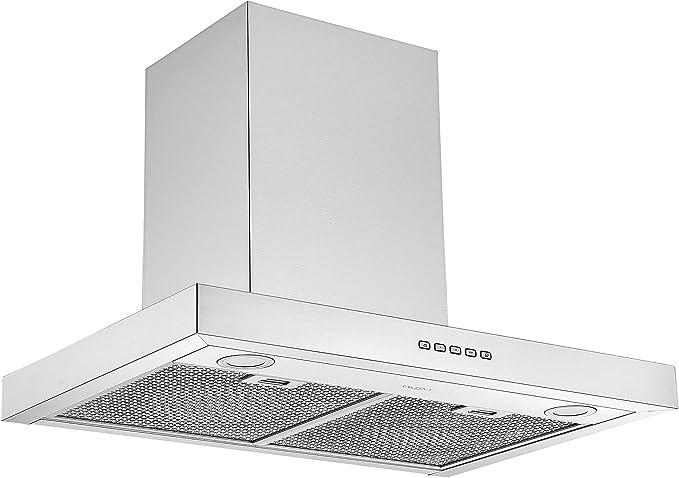 Amazon Com Ancona An 1123 30 In Wall Mounted Rectangular Convertible Range Hood Stainless Steel Appliances