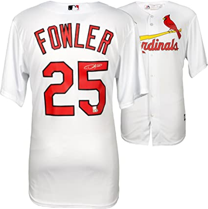 brand new a7427 27cfe Dexter Fowler St. Louis Cardinals Autographed Majestic White ...