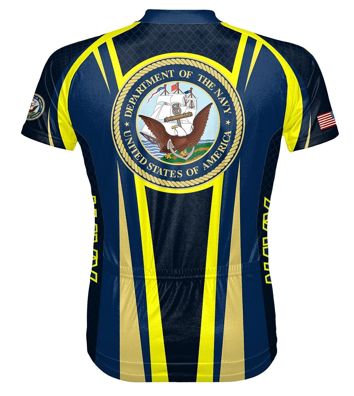 Amazon.com   Primal Wear Navy USN Team Cycling jersey Men s Short Sleeve  with Socks   Sports   Outdoors 2eb7ba96d