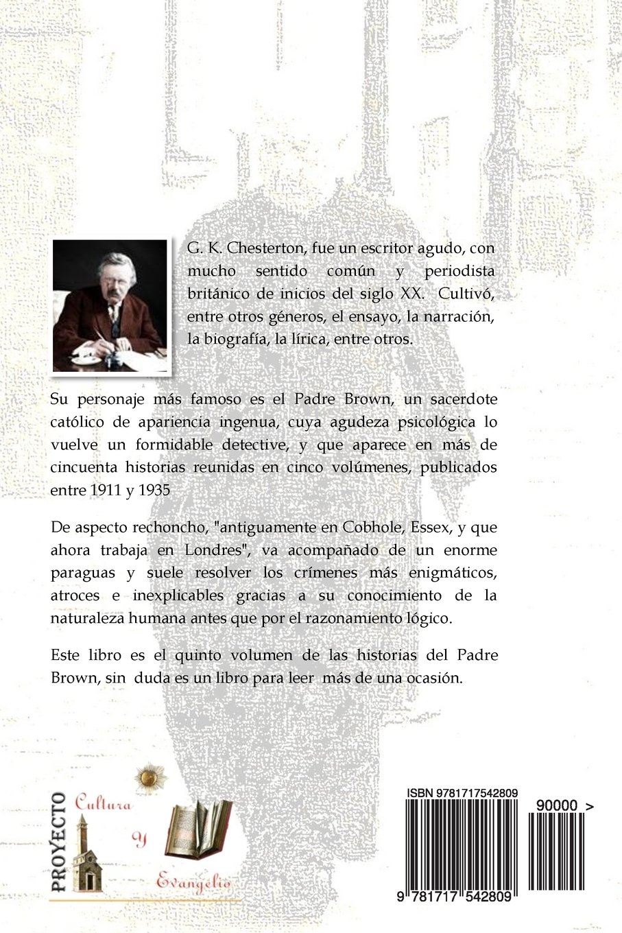 El Escandalo del Padre Brown: Volumen V - Historias del Padre Brown (Volume 5) (Spanish Edition): G. K. Chesterton, Sr. Lubin Jose Paz: 9781717542809: ...