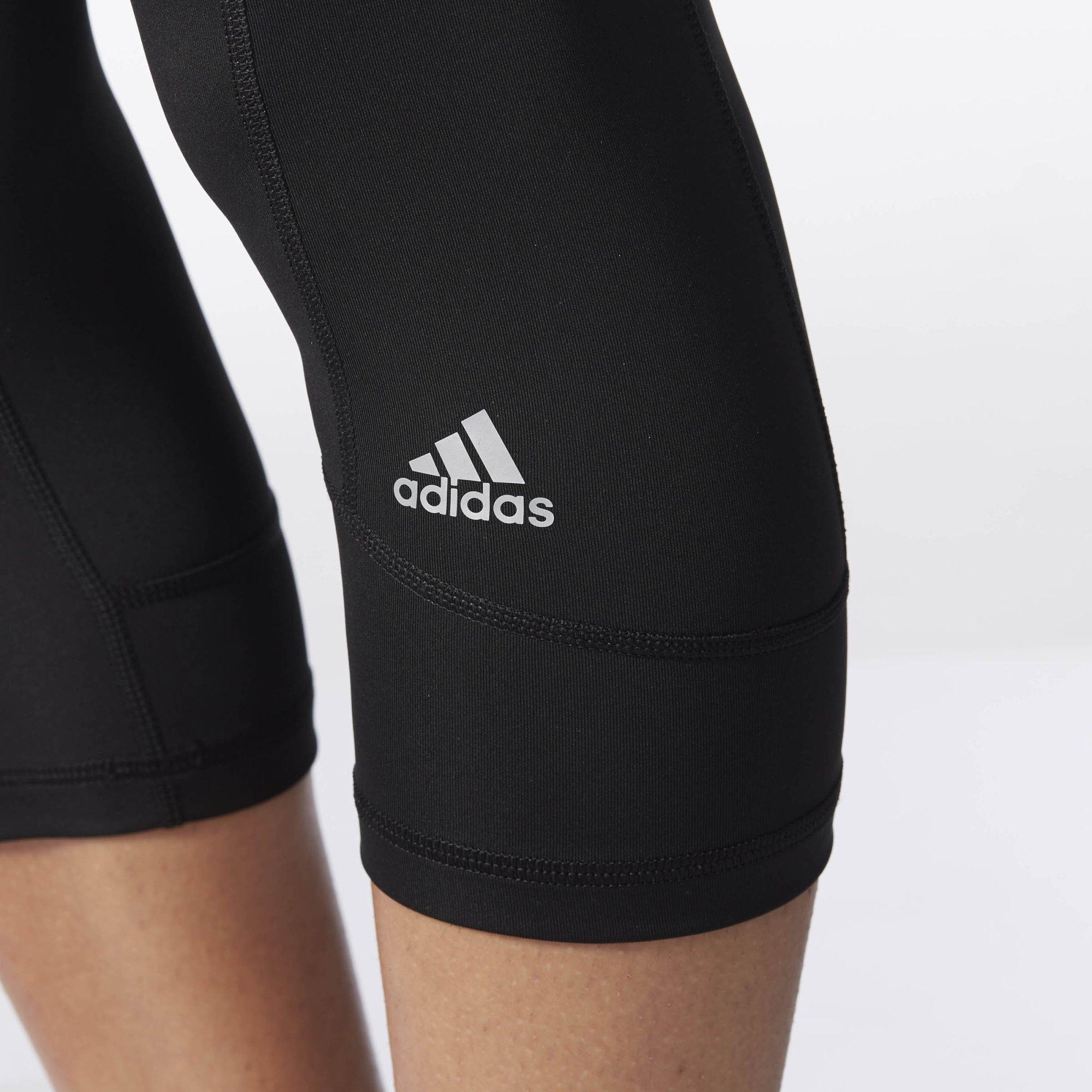 adidas Women's Techfit Capris, Black/Matte Silver, X-Small by adidas (Image #2)