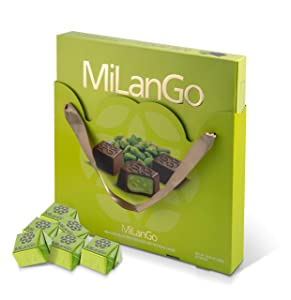 Milango Classic Pistachio Chocolate Gift Basket, Gourmet Christmas Holiday Corporate Food Gifts in Elegant Box, Thanksgiving, Halloween, Birthday or Get Well Baskets Idea for Men & Women