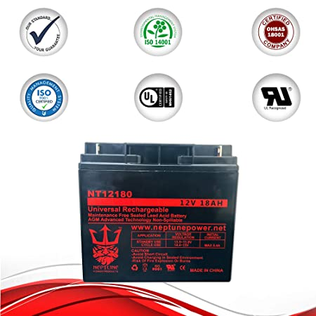 Ultra Tech UT12180 - Batería de Repuesto para cortacésped (12 V ...