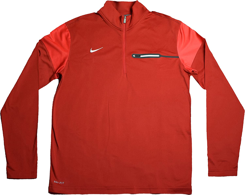 Large Nike Mens Football Training Half Zip Sweatshirt