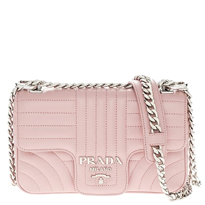 3e1abf178d6b Prada Women s Diagramme Leather Should Bag Pink  Amazon.ca  Clothing    Accessories