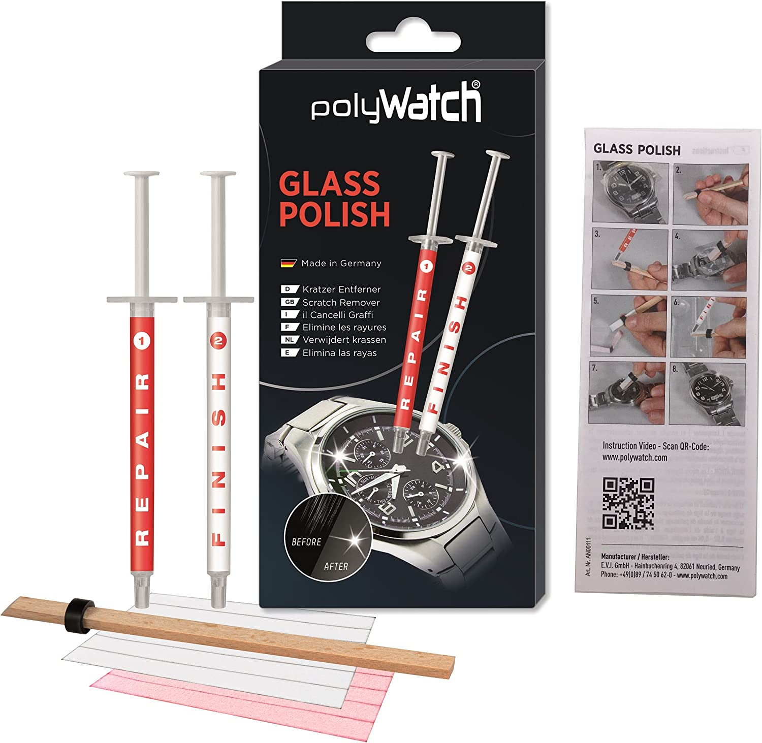 PolyWatch 8541771529 Glass Polish Glass Scratch Remover/Sapphire Scratch Remover/Repair Cell Phone Screens