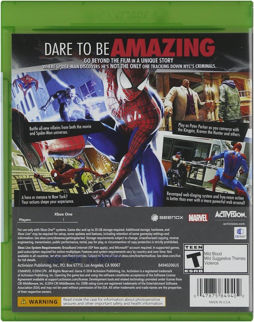 Amazon Com The Amazing Spider Man 2 Xbox One Activision Video Games