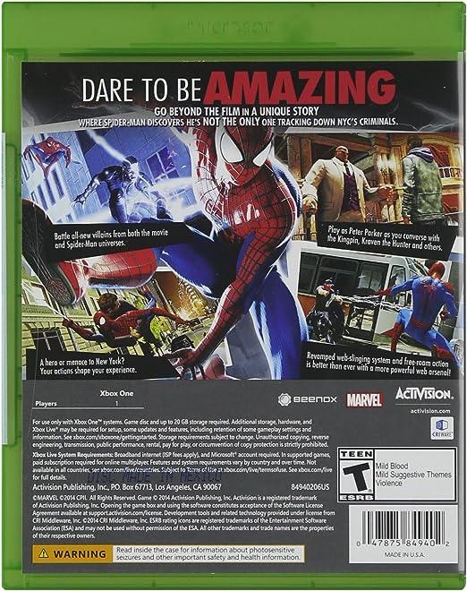 Activision The Amazing Spider-Man 2, Xbox One - Juego (Xbox One, Xbox One, Acción / Aventura, T (Teen)): Amazon.es: Videojuegos