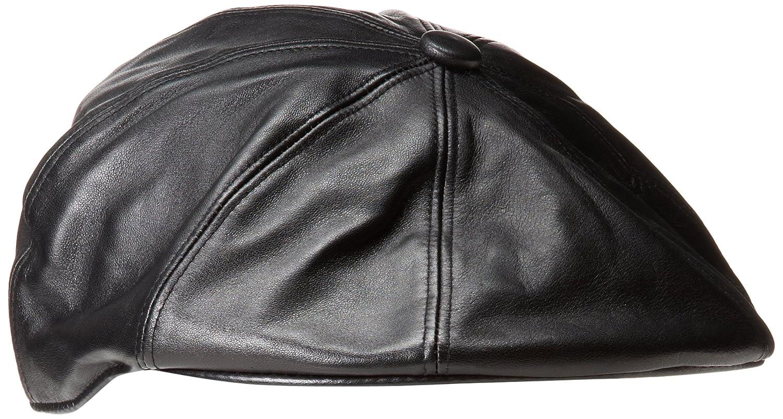 Kangol Leather Galaxy Men s Hat Black Medium  Amazon.co.uk  Clothing 756827c2762