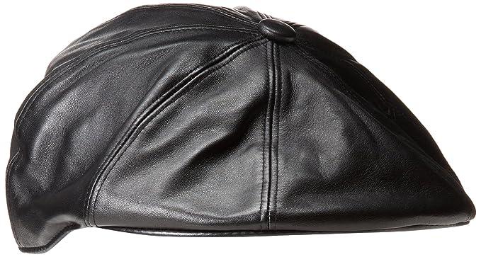 4742dc569 Kangol Female, Male Leather Galaxy Black M at Amazon Men's Clothing ...