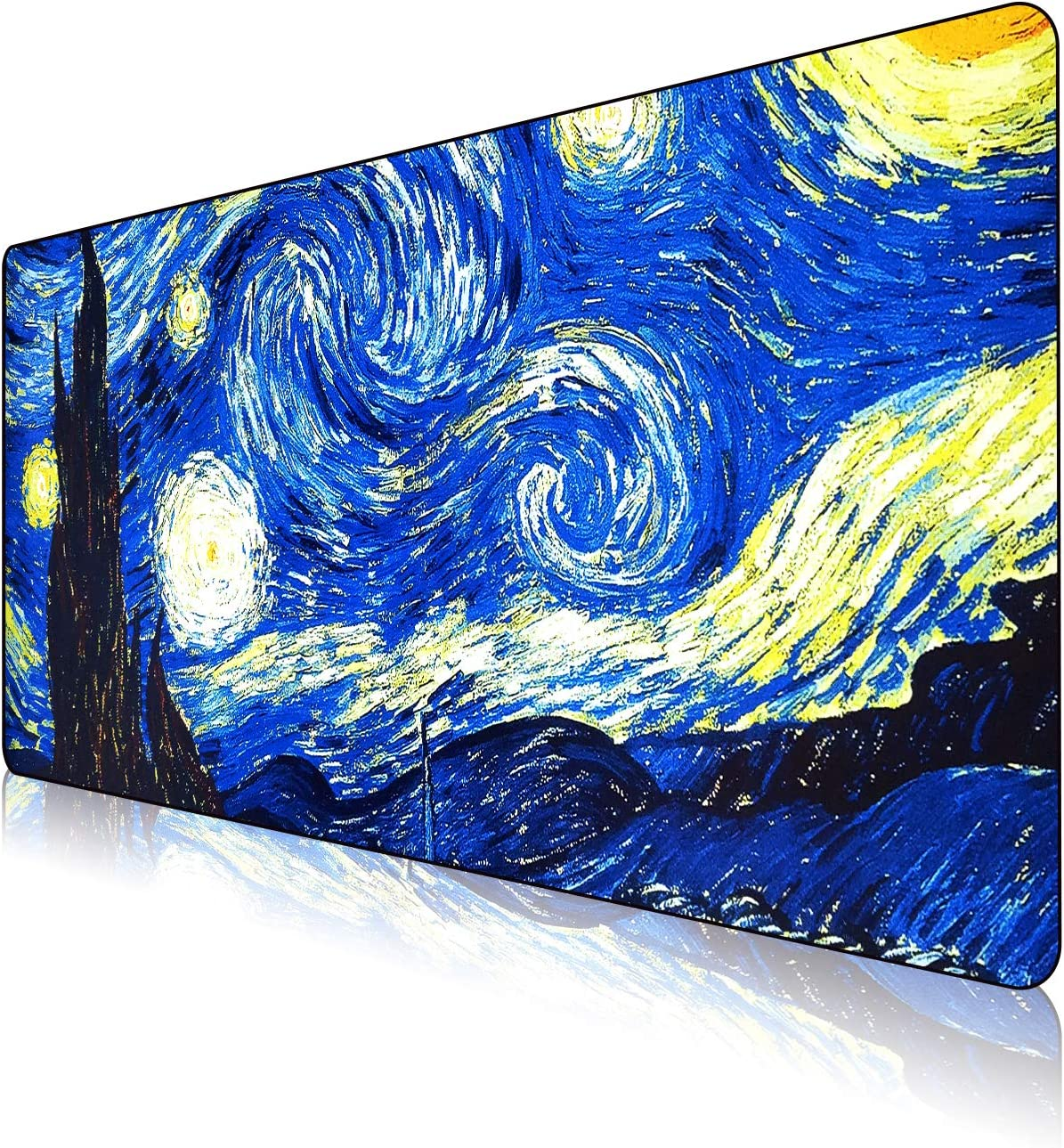 NJHX Large Gaming Mouse Pad- Waterproof XXL Long Extended Keyboard Mat(35.4x15.7x0.16In), Starry Night…