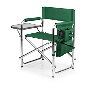 Amazing Picnic Time Portable Folding Sports Chair, Hunter Green