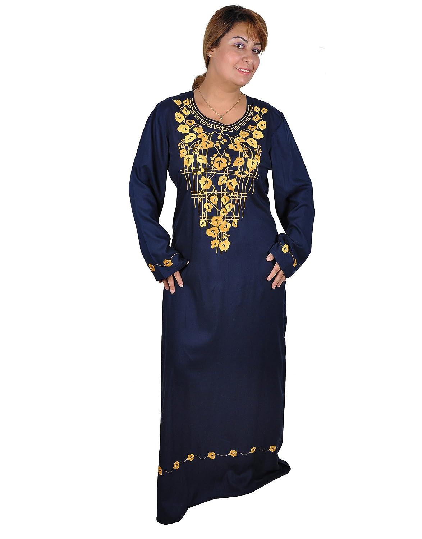 Damen-Kaftan Hauskleid aus 1001 Nacht, nachtblau/gold KA00631