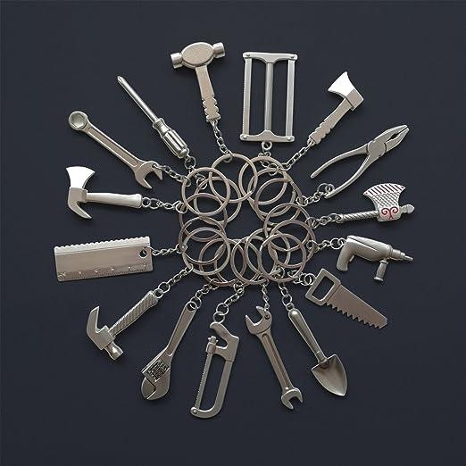 tooloflife 100 llaveros de metal con cierre de mosquet/ón para manualidades