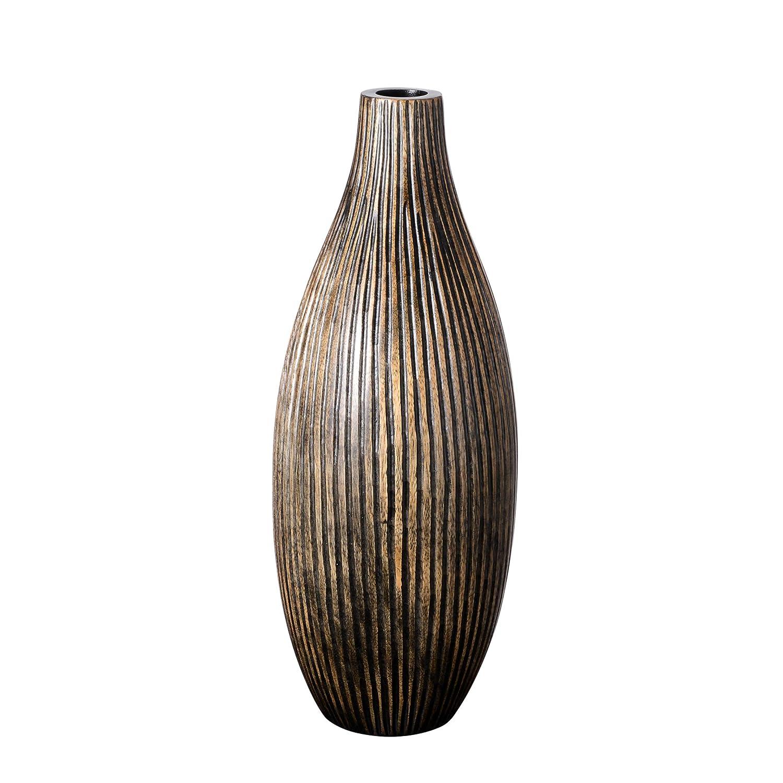 Villacera Wood Vase Brown