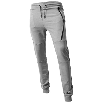 ce479d360cb ... Hat and Beyond VW Mens Jogger Pants Biker Slim Fit Casual Fleece Active  Elastic 1VWA5001- ...