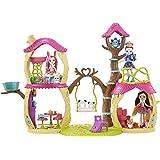 Enchantimals Casa Sull'Albero, Playset per Le Bambole con Tanti Spazi di Gioco e Accessori a Tema, FNM92