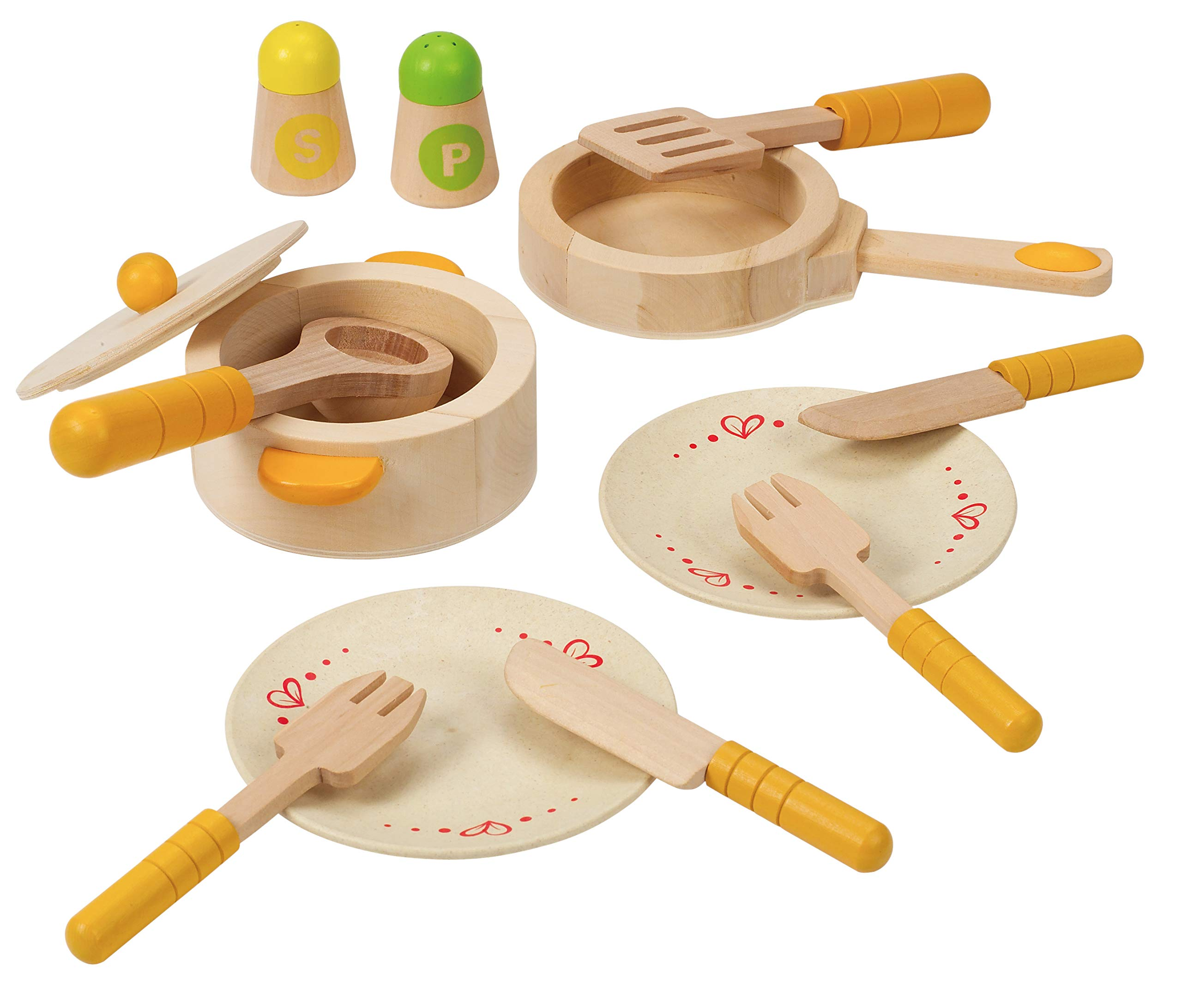 Hape Gourmet Play Kitchen Starter Accessories Wooden Play Set by Hape