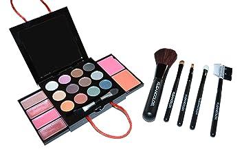 Amazon.com : Purse Makeup Kit - Mini Palette + Travel Size Brush ...