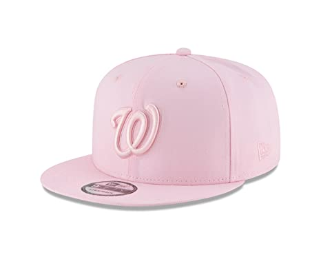 d3bcde368f2f1 Image Unavailable. Image not available for. Color  New Era Washington  Nationals Tonal Pastel PINK 9Fifty Snapback MLB Adjustable Hat